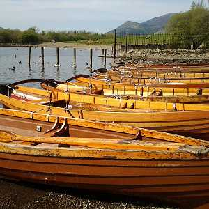 Rowing boats on Derwentwater at Keswick