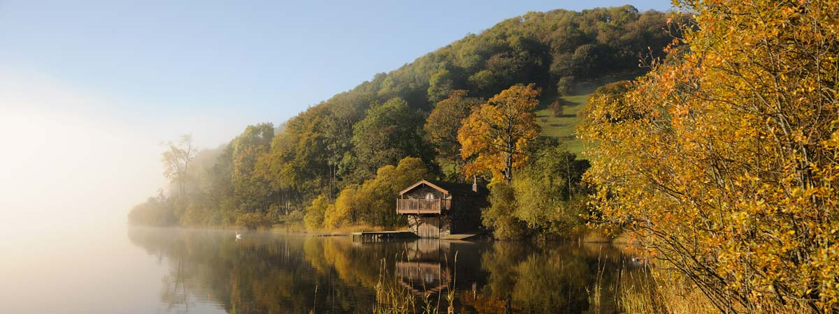 Photo: boathouse in the Lake District.
