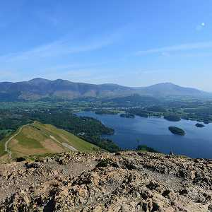 Looking over Derwentwater to Keswick